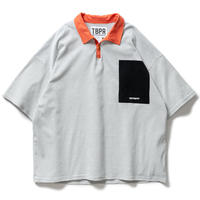 TIGHTBOOTH / TBPR / STRIPE POLO SHIRT -White- / ポロシャツ