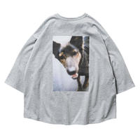 TIGHTBOOTH / DOG 7 SLEEVE T-SHIRTS-gray- (TIGHTBOOTH / JIRO KONAMI) / 7分袖Tシャツ