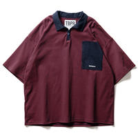 TIGHTBOOTH / TBPR / STRIPE POLO SHIRT -Navy × Red- / ポロシャツ