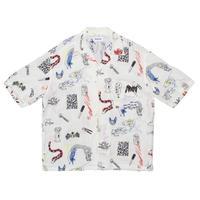 ALOHA RUG / AUTO MOAI -White- / 半袖シャツ
