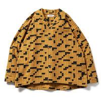 TIGHTBOOTH / TBPR / CROSSWORD FLANNEL SHIRT -Mustard- / フランネルシャツ