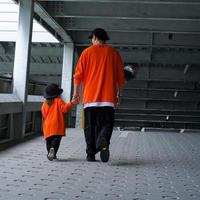 OTOGIBANASHI / LIFE is BEAUTIFUL tee(ADULT)-orange- / ロンティー(大人服)