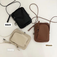 mini soft leather pouch