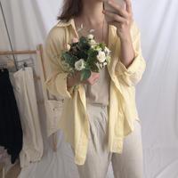 basic linen shirt/레몬