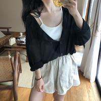 2way cardigan / 블랙