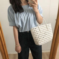 square stitch blouse