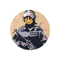 """WALL CLOCK """"Riot Cop"""" made by KARIMOKU"""