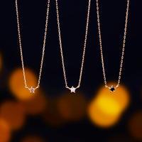 Minimal Star Necklace - BROWN