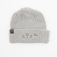 SCATTERED LOGO COTTON RIB BEANIE
