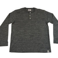LOOPWHEEL HENLEY L/S T-SHIRTS -MIX CHARCOAL- R185-0201