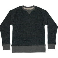 ※LOOPWHEEL CREW SWEAT -MIX BLACK- R185-0301