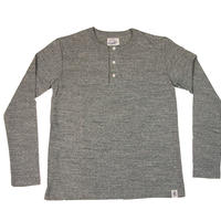 LOOPWHEEL HENLEY L/S T-SHIRTS -MIX GRAY- R185-0201