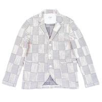 PATCHWORK  JACQAURD JACKET -WHITE-