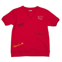 S※TRIP EMBROIDERY S/S SWEAT -RED-