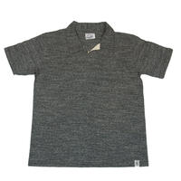 ※LOOPWHEEL T-POLO -MIX CHARCOAL-