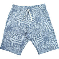 S※70's FLOWER JACQUARD SHORTS -NAVY- H191-0502