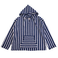 STRIPE BLANKET FLEECE MEXICAN PARKA