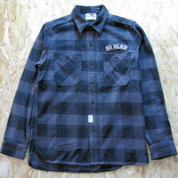 So Glad Hand Flannel Shirt Charcoal×Black