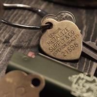 Lucky Brass Tag (Heart)