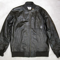 So Glad MA‐1 Leather Jacket