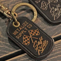 Safe Ride Leather Keychain