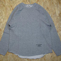 So Glad  Cut-Off Crew Neck Sweat Gray