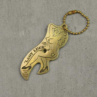 """Lady Luck""Nude girl opener key ring"