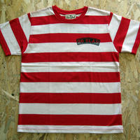 So Glad Bold Border TEE White × Red