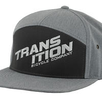 Transition Bikes  7 Panel Strapback Grey