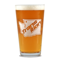 "PINT GLASS ""TR Hometown"""