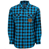 Huckit Flannel TR Blue Plaid