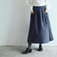 <完売しました>コットンリネン・ポッシュ・スカート/チャコール