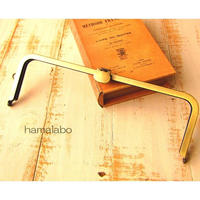 【HA-1679】オコシ式口金27cm/角型(ネコ×アンティークゴールド)+(プラス)