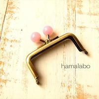 10月19日販売開始!【HA-1900】7.5cm/角型口金(オーロラピンク×アンティークゴールド)