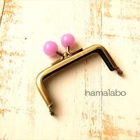 10月19日販売開始!【HA-1899】7.5cm/角型口金(オーロラパープル×アンティークゴールド)