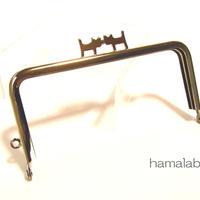 <廃盤予定>【HA-1315】ペアネコ口金/12cm角型(シルバー)