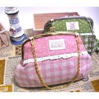 【KT-1016】がま口バッグの型紙&レシピ【17cm用】