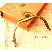 3月31日販売開始!【HA-1602】台形型の口金13cm/(押し口金×アンティークゴールド)