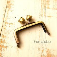 10月19日販売開始!【HA-1897】7.5cm/角型口金(ネコ玉×アンティークゴールド)