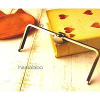 【HA-1588】オコシ式口金18cm/角型(ネコ×アンティークゴールド)カン付き