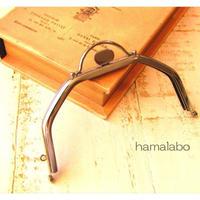 【HA-1601】台形型の口金13cm/(押し口金×シルバー)