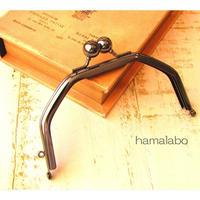 5月11日販売開始!【HA-1604】台形型の口金13cm/(アメ玉×ブラック)