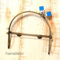 【HA-1463】16cmベンリー口金/(新撰組×アンティークゴールド)・カン付き