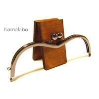 【HA-1258】メガネ型口金(アメ玉×ブラック)