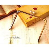 【HA-1511】17.7cm/角型の口金(ホワイトパール×ゴールド)