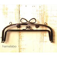 10月26日販売開始!初回限定特価!【HA-1805】親子口金 20.4cm(新リボン×ブラック)・カン付き