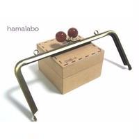 【HA-1218】18cm/角型(べっ甲玉×アンティークゴールド)・カン付き