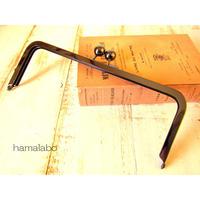 【HA-487】24cm大玉口金/角型/ブラック/+(プラス)