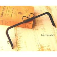 特価【HA-1682】24cm角型口金(リボン×ブラック)+(プラス)