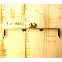 【HA-1650】25.5cm/角型(ネコ玉×アンティークゴールド)